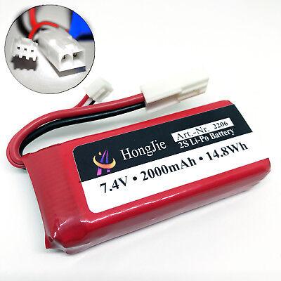 2000 Boot (FT009 Akku Batterie 7.4V 2000mAh 25C Li-po Lipo Tuning RC Boot 2s Mini Tamiya )
