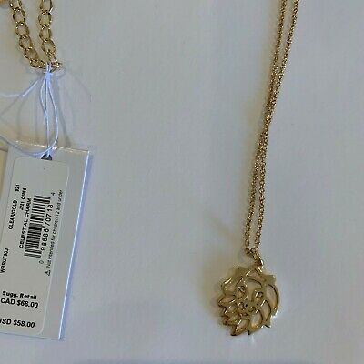 Kate Spade New York Celestial charm pendant necklace LEO, gold plated