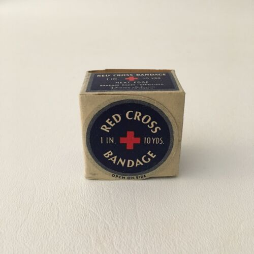 Vintage Red Cross Bandage In A Box 1 inch 10 Yards