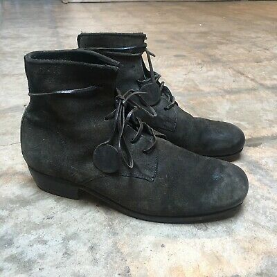 CARPE DIEM Mens Casual Black Leather Round-Toe Lace-Up Ankle Boot US10/9.5