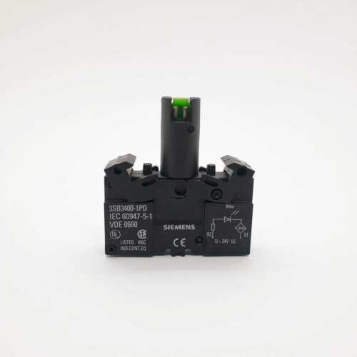 SIEMENS 3SB3400-1PD Lampenfassung integrierte LED 24V AC/DC blau, blue