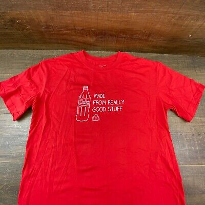 Coca-Cola Coke Made From Really Good Stuff Red T-Shirt Size XXL/2XL Bin-414