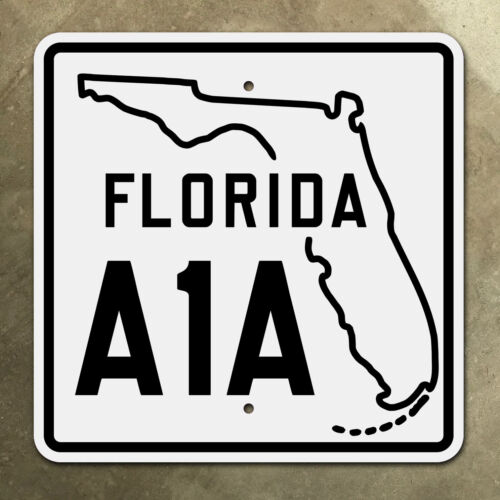 Florida state route A1A highway marker road sign Miami Beach Key West