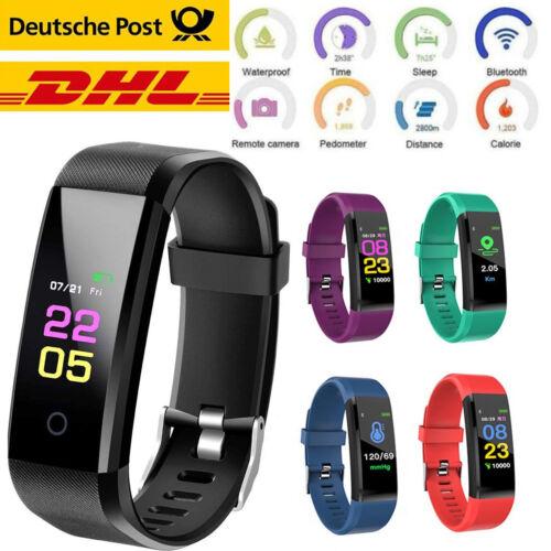 Fitness Armband Tracker Pulsuhr Uhr Smartwatch Smart Wasserdicht Sportuhr LCD DE