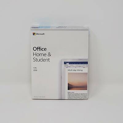 Microsoft Office 2019 Home and Student for Windows 10 1PC Product Key Card New