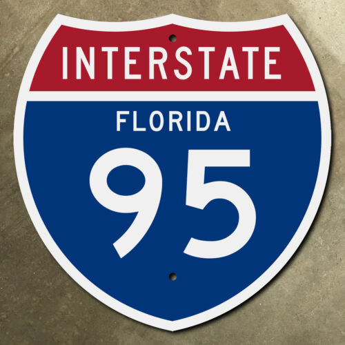 Florida interstate route 95 highway marker road sign Miami Jacksonville Daytona