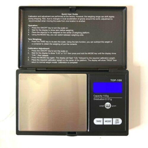 Digital Pocket Scale 100g x 0.01 Gram Ounce Troy w/ Batteries LCD Backlit Pocket