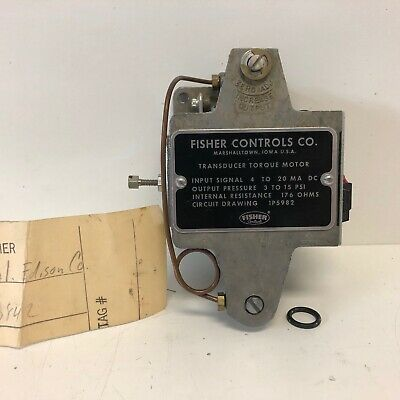 New Old Stock Fisher Controls Transducer Torque Motor 1p5982 23842