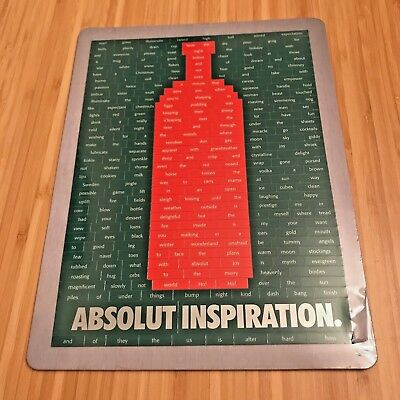 Absolut Vodka - Rare 1996 Promo Christmas Word Art Magnet - SEALED