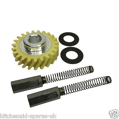 Kitchenaid Artisan & 5QT Stand Mixer Worm Drive Gear with 2 x Shims And Brushes.