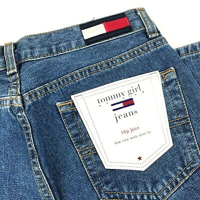 NWT Tommy Girl Vintage Hip Jeans Boot Leg, Low Rise, Slim Fit Sz 1 (28 x 31 x 7)