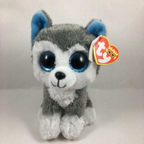 Paw Patrol - MWMTs Stuffed Animal Toy 6 inch ROCKY Grey Dog TY Beanie Baby