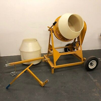 Mcmaster-carr Gilson Cement Mixer Custom Cart Handle Hitch 2 Liners 13hp 22 Gal
