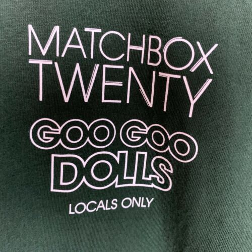 Match Box Twenty Goo Goo Dolls Locals Only Local Crew Shirt Mens Size XL Green