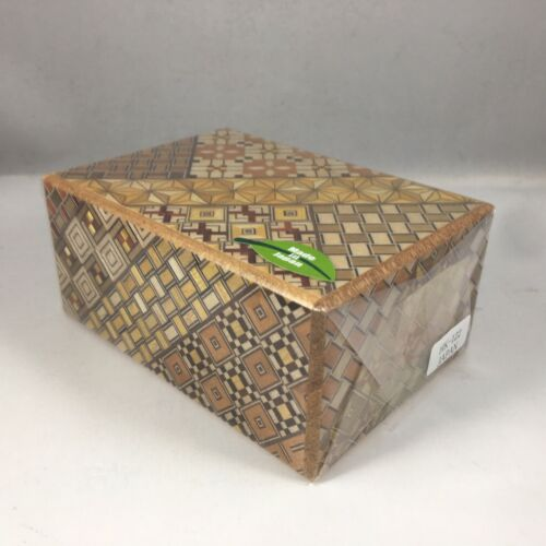 Japanese Samurai Handmade Wooden Yosegi Secret Trick Puzzle Box 7 Steps HK-122