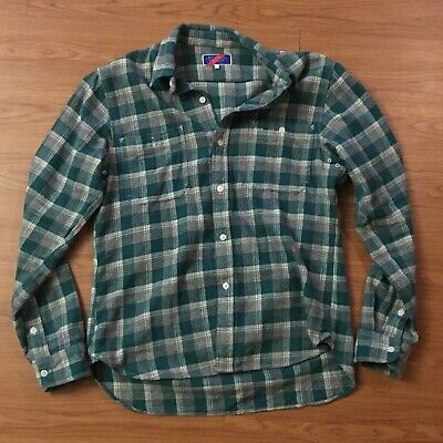 Best Made Co. The Heavyweight Flannel Workshirt in Green Half Shadow / (Best Heavyweight Flannel Shirt)