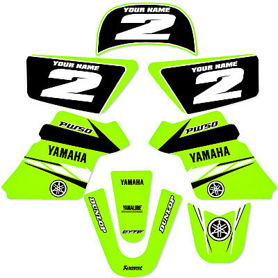 YAMAHA PW 50 PW50  GRAPHICS KIT DECALS DECO Fits Years 1990 - 2018 Green (Deco Decal)