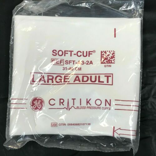 NEW GE Critikon SFT-A3-2A. Blood Pressure Cuff Adult Large Factory Sealed