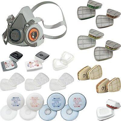3M Halbmaske Atemschutzmaske Maske Atemschutz Gasmaske Lackiermaske Staubmaske
