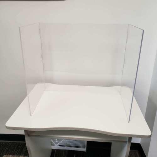 Sneeze Guard Desk Shield Plastic Divider Screen For Table Or Countertop Port