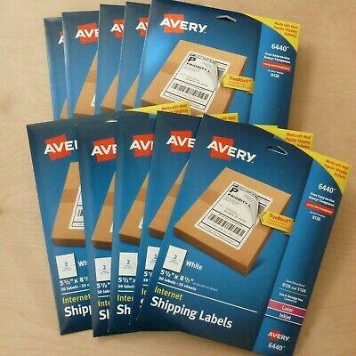 500 Ct. Avery Internet Shipping Labels 5.5 X 8.5 White Laser Inkjet Trueblock