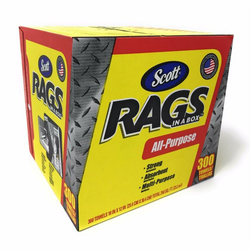 Scott 464404 Scotts Rags In A Box All-Purpose Towels 300 Sheets