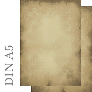 Motivpapier Briefpapier altes Papier beidseitig bedruckt antik 50 Blatt A5 neu