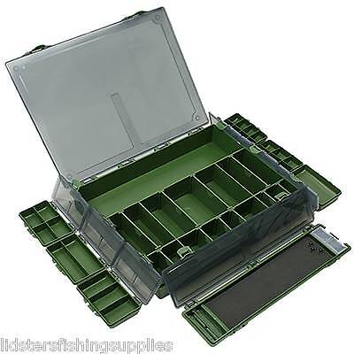 LARGE COMPLETE TACKLE BOX SYSTEM + 7 BIT BOXES CARP FISHING TACKLE