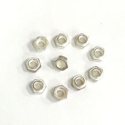 Steel 5000 pcs #8-32 A//F=5//16 Yellow Zinc Small Pattern Hex K Lock Keps Nuts
