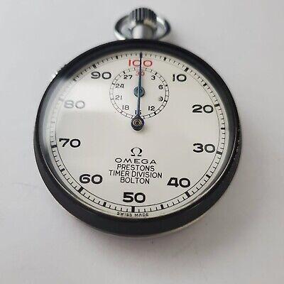 Rare Vintage Omega Stopwatch Prestons Timer Division Bolton