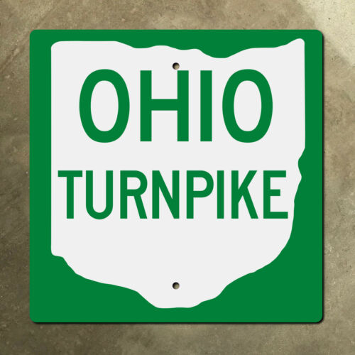 Ohio Turnpike highway marker road sign route shield 1971