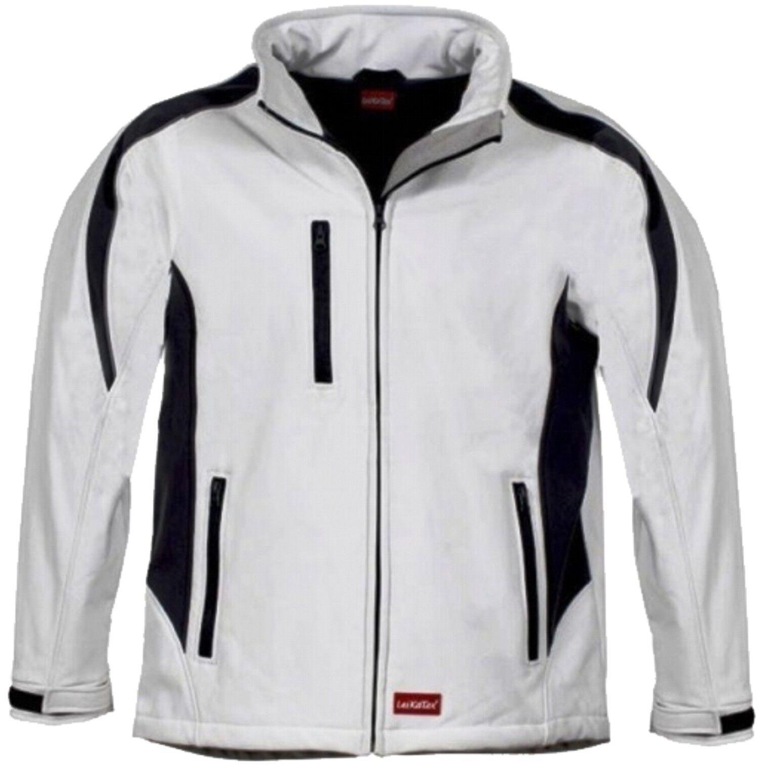 Softshelljacke weiß / grau Funktionsjacke Jacke Warnjacke Arbeitsjacke  S-XXXL