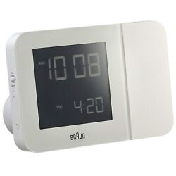 Braun BNC015 Digital Radio Controlled Projection Alarm Clock - White