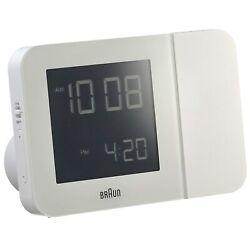 Braun BNC015 Digital Radio Controlled Projection Alarm Clock - White