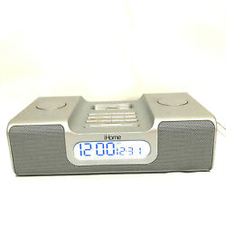 ihome Model iH8 Dual Alarm Stereo Clock Radio Docking Station Only