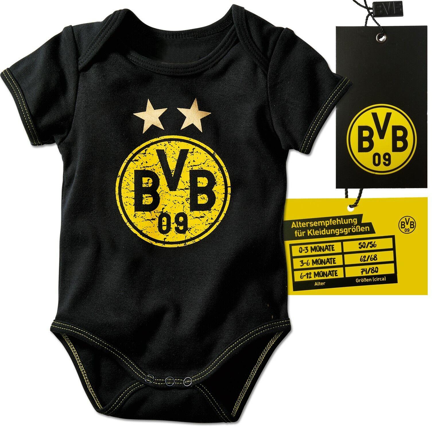 BVB Babybody Borussia Dortmund Emblem Sterne Logo Gr. 50-56 62-68 74-80 Body BVB
