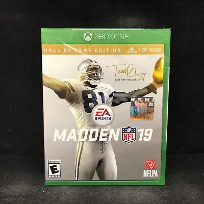 Madden Nfl 19 Hall Of Fame Edition  Xbox One  Brand New   In Stock
