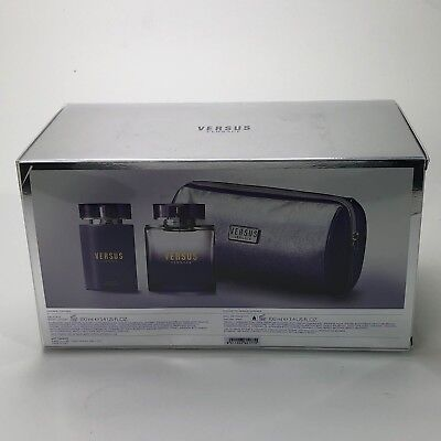 VERSACE VERSUS GIFT SET WITH 100ML EAU DE TOILETTE & 100ML BODY LOTION & BAG
