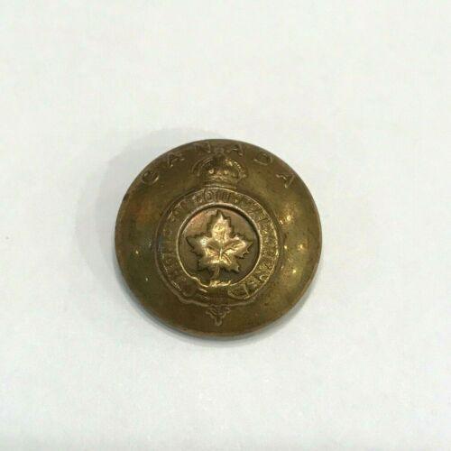 Vtg Brass Canadian Shank Button Honi Soit Qui Mal Y Pense Wm Scully Ltd Montreal