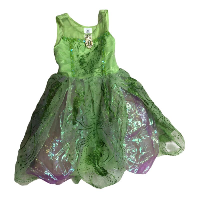 Disney Tinker Bell Dress Costume Youth Size 7/8 Sleeveless Green J2Y