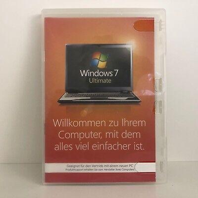 MICROSOFT WINDOWS 7 ULTIMATE 32 BIT - VOLLVERSION MIT HOLO-DVD RG MWST MS WIN (Windows 7 Ultimate Vollversion)