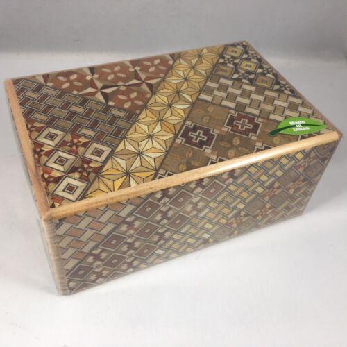 Japanese Yosegi Puzzle Box Wooden Magic Trick Box 21 Steps HK-134 Made in Japan