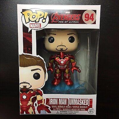 Funko POP Marvel Iron Man Unmasked Mark 43 Vaulted Mint Box