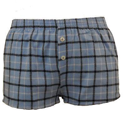 Plaid Pajamas (Flannel Sleep Shorts Womens Size S M L XL Plaid Pajama Boxer Lounge 7)