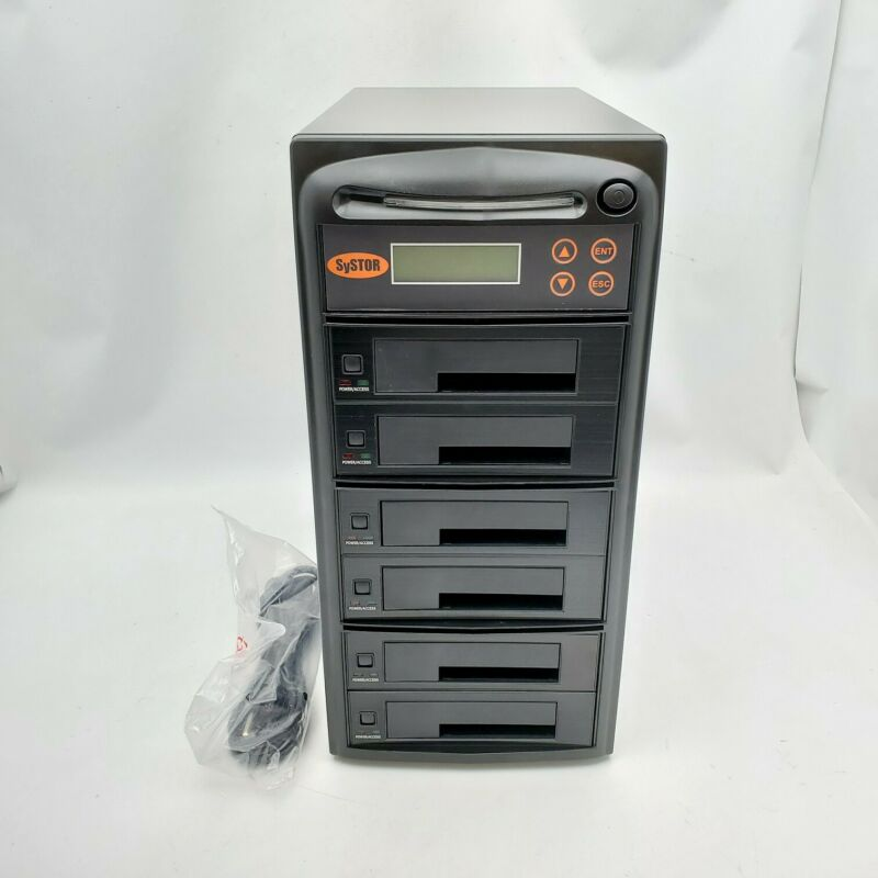"Systor 1:5 SATA 2.5"" & 3.5"" DualPort/Hot Swap HDD/SSD Clone Duplicator/Sanitizer"