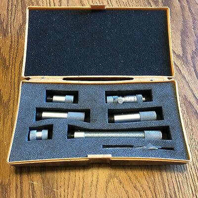 Mitutoyo No. 137-112 Tubular Inside Micrometer Set - 2 To 12
