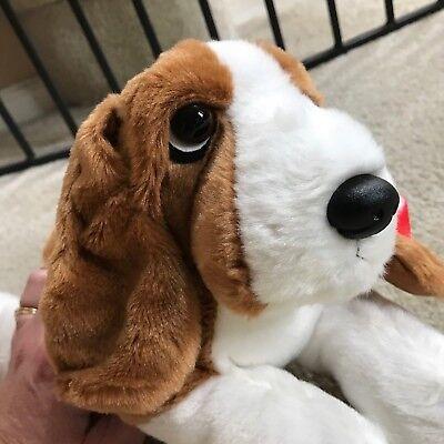 """Basset Bassett Hound Puppy Dog Realistic 12"""" Laying Stuffed"""