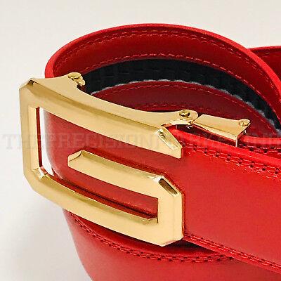 (Fashion Men's Women's Automatic G Gold Buckle Slide Designer Leather Belt 2018)