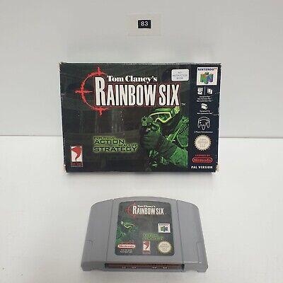 Tom clancy's rainbow six Nintendo 64 N64- Boxed Game PAL Seller Oz83