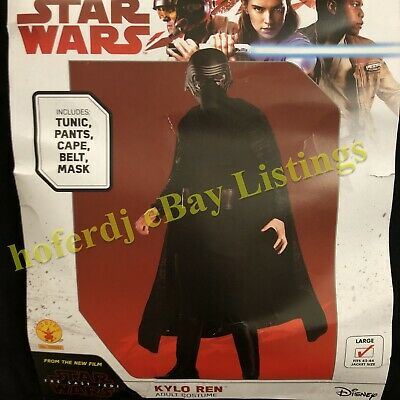 Mens Adult KYLO REN Star Wars The Last Jedi Halloween Costume L Large Complete